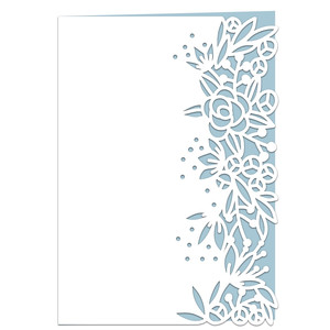 flower frenzy lace edged card