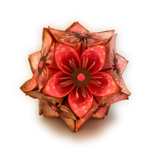 flower 3d ball ornament