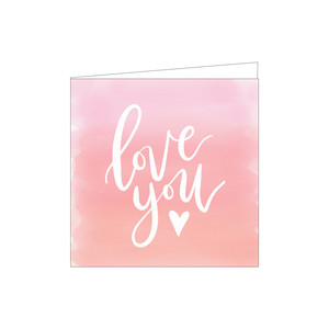 love you watercolor card