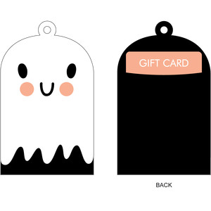 ghost gift card holder + gift tag