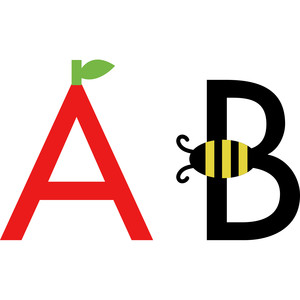 alphabet learning craft - a and b