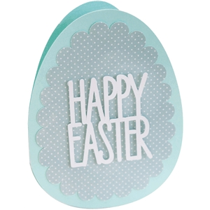egg-shaped easter card