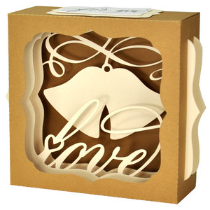 wedding bells love gift card box