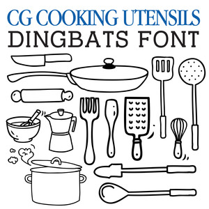 cg cooking utensils dingbats