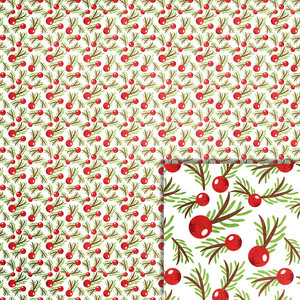christmas pine berries background paper