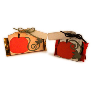 pumpkin place cards candy 3d tents