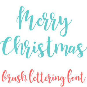 merry christmas brush lettering font