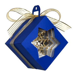 cubed shadow box snowflake christmas ornament
