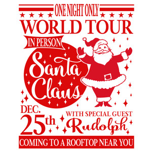 santa world tour sign