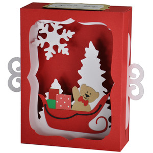 teddy bear sleigh ride gift card decoration