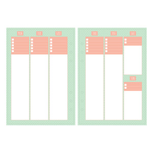 a5 and letter size weekly planner - horizontal list