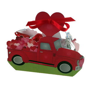 valentine red truck candy box