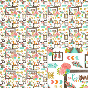be brave background paper