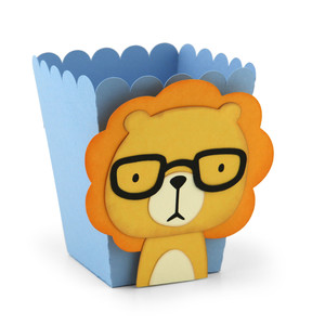 popcorn favor box lion