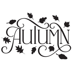 autumn decorative word