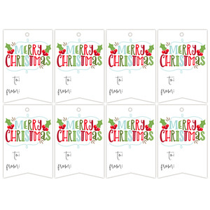 merry christmas tag set
