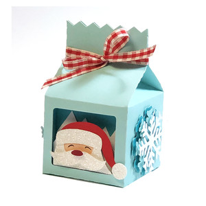 santa claus milk box