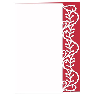 vines and berries lace edged card