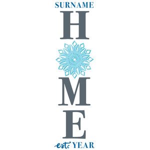 snowflake home porch sign