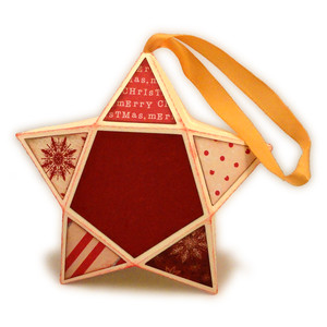 star 3d box ornament patchwork
