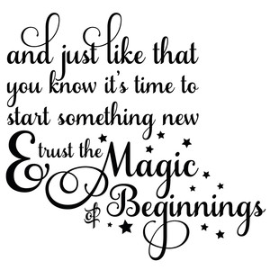 magic of beginnings quote