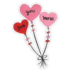 love you more balloons