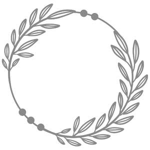 double foliage circle wreath