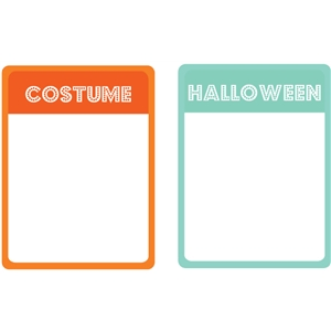 halloween / costume journaling cards