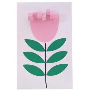 tulip flower card
