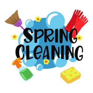 spring cleaning phrase and tools