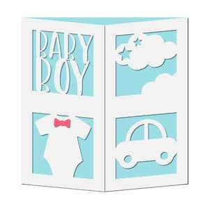 gate fold card baby boy