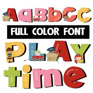 playtime color font
