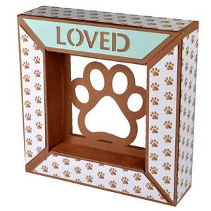 loved paw print framed