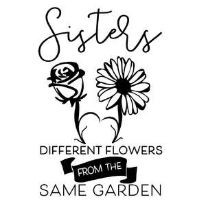 sisters different flowers