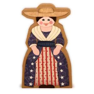 colonial lady 3d block box