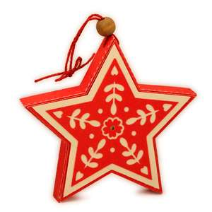 ornament 3d scandi star hearts