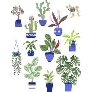 house plant stickers