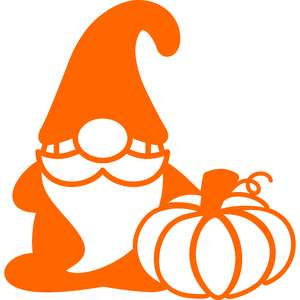 gnome and pumpkin