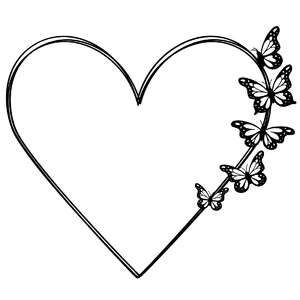 heart butterfly frame