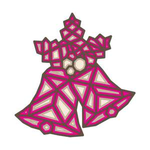 christmas bells 3d layered mandala