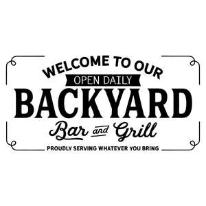 backyard bar and grill