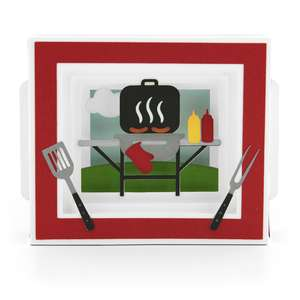 shadow box card bbq