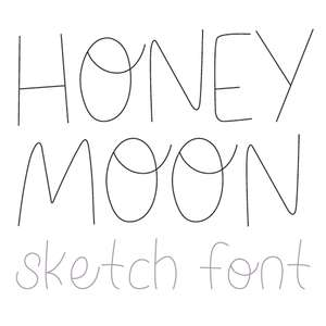 dtc honeymoon sketch font