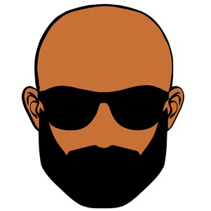 bald bearded man