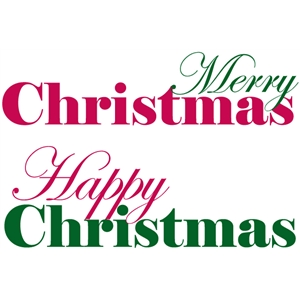 set of 2 christmas greetings