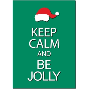 keep calm be jolly phrase