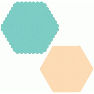 scallop hexagon nested shapes