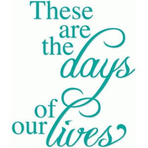 these are the days of our lives phrase