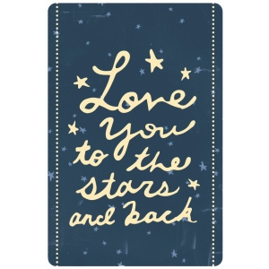 dear lizzy - love you to the stars card