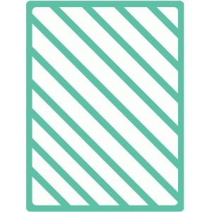 diagonal stripe 3x4 journaling card